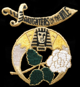 DAUGHTERS OF THE NILE embroidered emblem