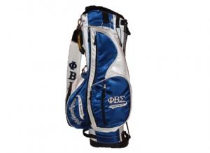 Phi Beta Sigma Blue And White Stand Golf Bag