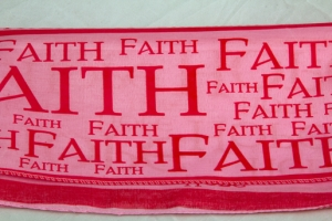 Breast Cancer Faith Scarf