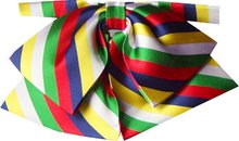 Eastern Star Rainbow Stripe Ladies  Pre-tied Bow Tie-OUT OF STOCK