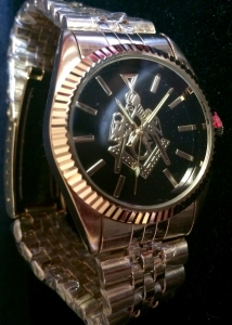 Masonic Rolex Style Gold Watch