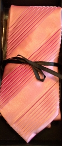 Wide Pleated Tie Box Set- pink