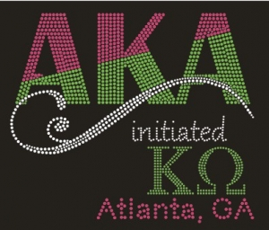 Initiated at KAPPA OMEGA Chapter Bling T-Shirt (Sizes small to x-large)