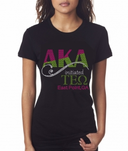 Initiated at TAU EPSILON OMEGA Chapter Bling T-Shirt (Sizes 2-3x-large)