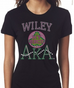 WILEY COLLEGE/AKA- MY HBCU BLACK Chapter Bling T-Shirt (Sizes 2x- 3x large)
