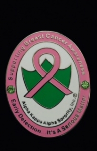 AKA Breast Cancer Pin-Early Detection-It's A Serious Matter