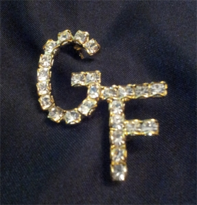 GIRLFRIENDS Clear Swarovski Crystal Lapel Pin