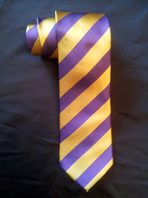 b70b3f789a3e Purple & Gold Vertical Striped Tie-Microfiber- Out of Stock