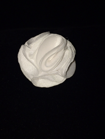 White silk flower lapel pin mightylinksfo