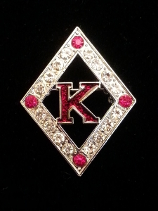 large kappa alpha psi diamond crystal pin