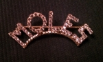 MOLES Arched Crystal Lapel Pin