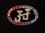 Jack & Jill Crystal Lapel Pin
