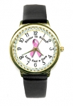 Breast Cancer Ribbon Watch