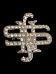 National Smart Set Crystal Letter Pin-CLEAR-Sold out