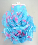 Turquoise Breast Cancer Scarf/ Clip Set-Out of stock