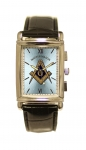 Master Mason Rectangular Chrome watch