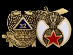 Masonic  Lapel Pin-32nd