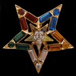 OES Crystal Star Lapel Pin