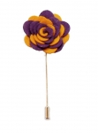 ROYAL PURPLE AND GOLD  FLOWER LAPEL STICK PIN-Out of stock