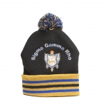 SGR Winter Knit beanie with crest and pompom