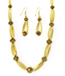 Metallic Gold and Copper Necklace set