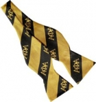 APA Black and Gold Bowtie-WIDE STRIPED