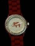 Red Watch with Elephant on dial