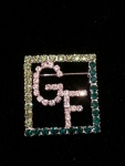 Clear GIRLFRIENDS crystal in Green Square Frame
