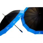 Black Zeta Sorority Classy 14 Panel Umbrella
