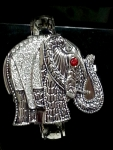 Antiqued Finish Elephant Cover Watch