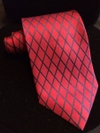 Cross-Cross Red and Black patterned tie
