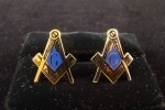 MASTER MASONS COMPASS AND SQUARE CUFF LINKS