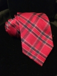 Plaid tie - red/black/blue