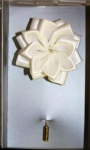WHITE SILK LOTUS FLOWER LAPEL STICK PIN