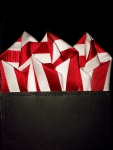 Red & White Striped Pocket Square- Out of stock