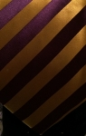 Purple & Gold Vertical Striped Necktie
