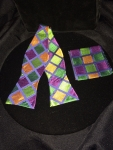 Bold Colored Square Patterned Bow Tie- multicolored