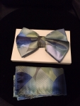 Multi-Colored Circles Patterned Bow Tie-Green