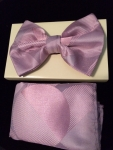 Multi-Colored Circles Patterned Bow Tie-Pink