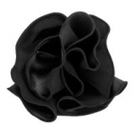 Black Round Pocket Square with Black Trim