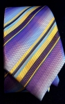 Printed Purple and Gold Woven Necktie