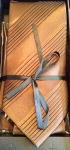 Wide Pleated Tie Box Set- chocolate