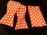 Orange & White Polka Dot Bow Tie-SELF TIE-Out of Stock