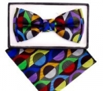 Kids Multi-Colored Patterned Bow Tie-