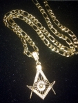 MASTER MASON NECKLACE WITH STONES