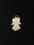 Clear Crystal Angel Brooch - Silver