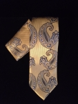 Old Gold Paisley Tie