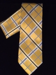 Yellow Stripe Patterned Tie