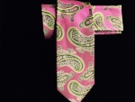 Pink & Green Paisley Tie