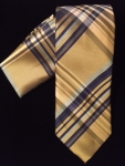 Gold & Navy Blue Stripe Tie